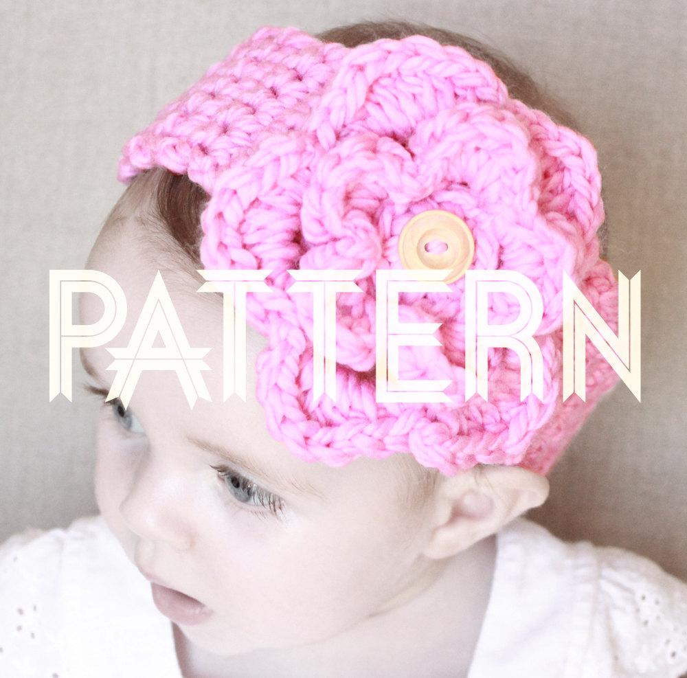 Infant Crochet Headbands With Flowers Pattern Flowers Healthy