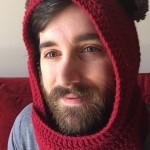 red star wars ewok scarf hood (scoodie)