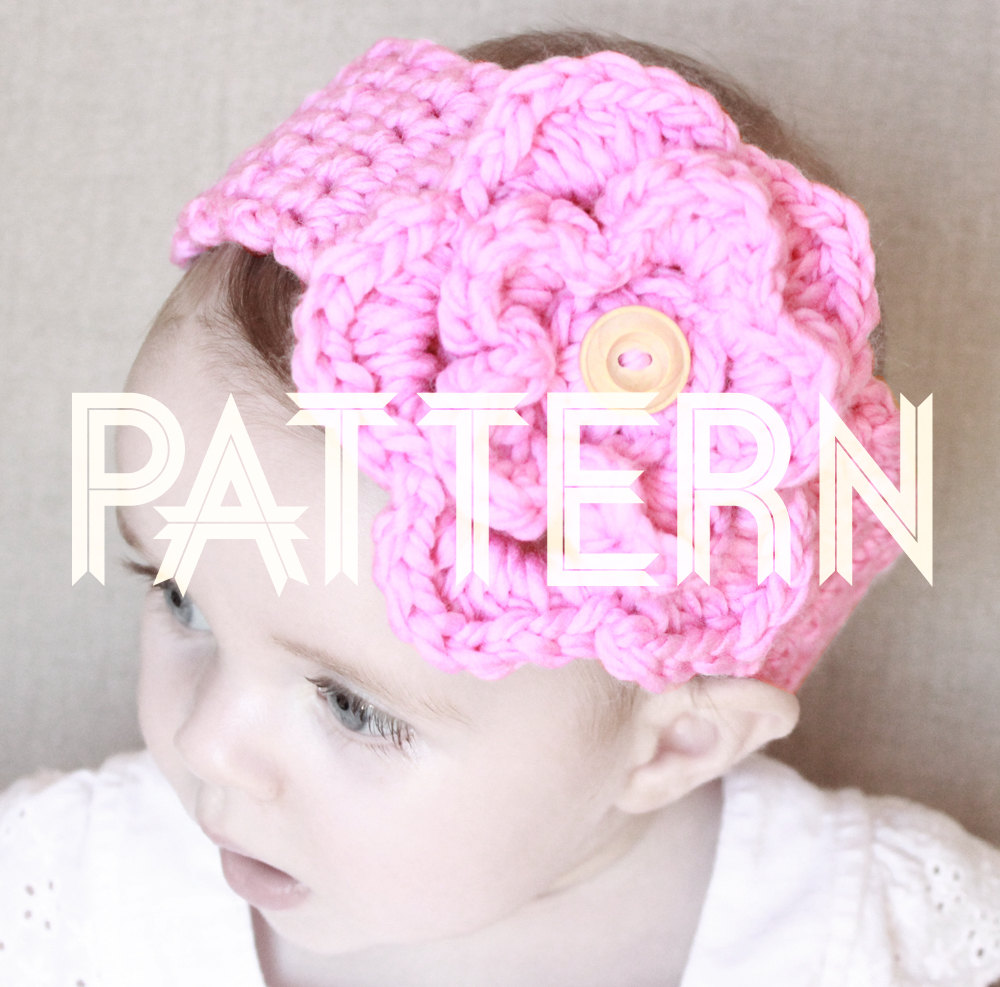 Crocheted Baby Headband with Detachable Flower PATTERN | LadyLion.co