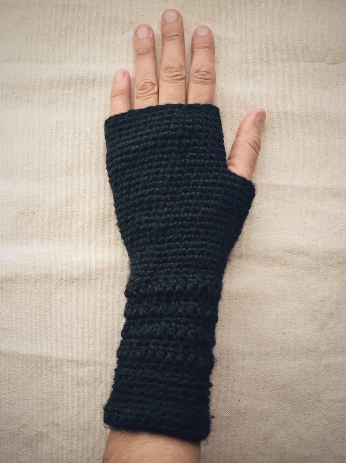 Crocheted Fingerless Gloves (top)