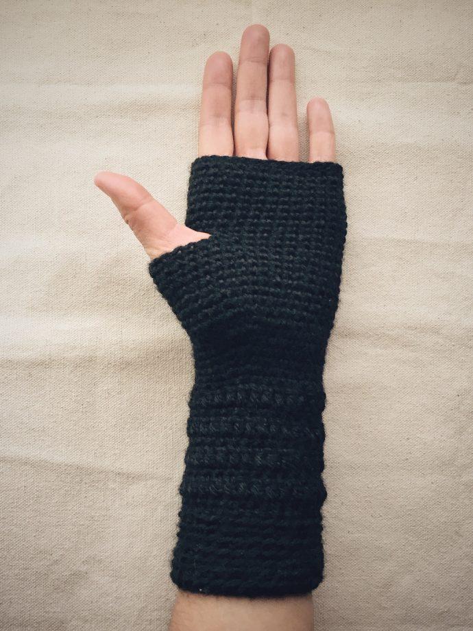 Crocheted Fingerless Gloves (Palm)